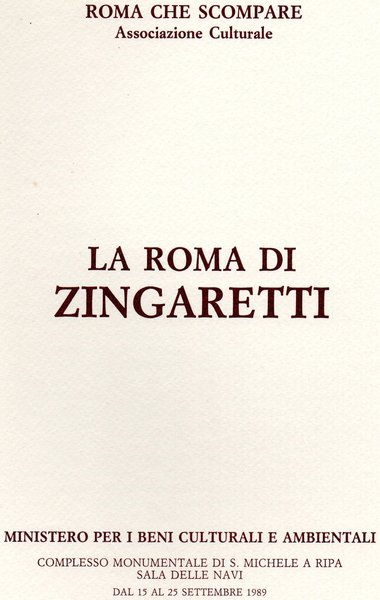 Roma Che Scompare