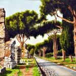 Vecchi ruderi sull'Appia Antica