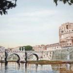 Il Ponte S.Angelo dal Tevere