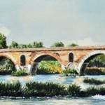 Il Ponte Milvio dal Tevere